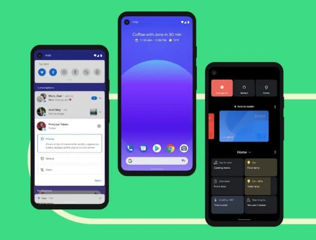 Smartphones sous Android 11