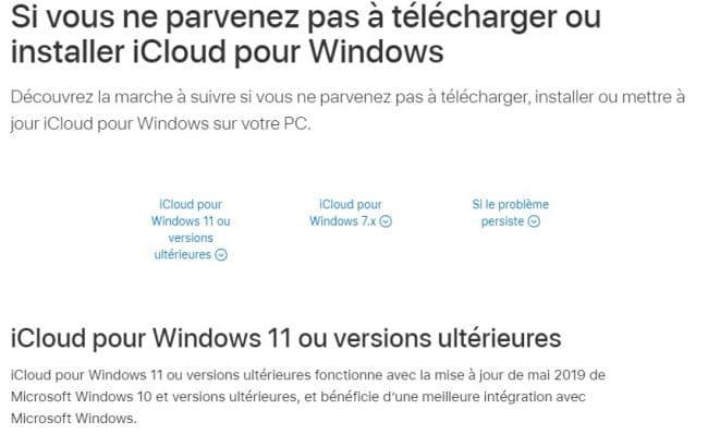Apple évoque Windows11 sursonsite, maisils'agit d'unecoquille. ©Capture d'écran/Apple