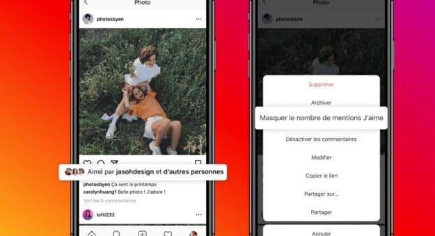 Instagram: vouspouvez désormais masquer lecompteur delikes