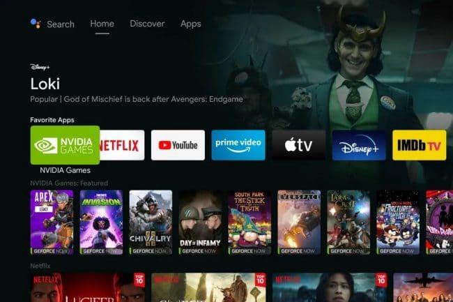 Nvidia Shield TV avec Android TV