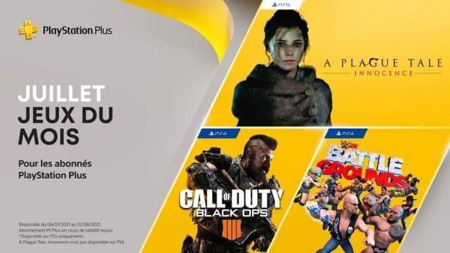 Sony PlayStation Plus juillet 2021