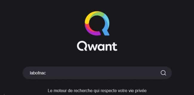 © Capture d'écran/qwant.com