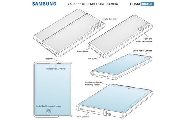 Samsung smartphone enroulable