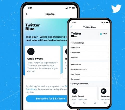 L'abonnement payant Twitter Blue arrive officiellement auCanada etenAustralie