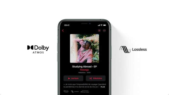 Apple Music Dolby Atmos et format Lossless