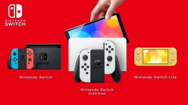 Nintendo Switch gamme
