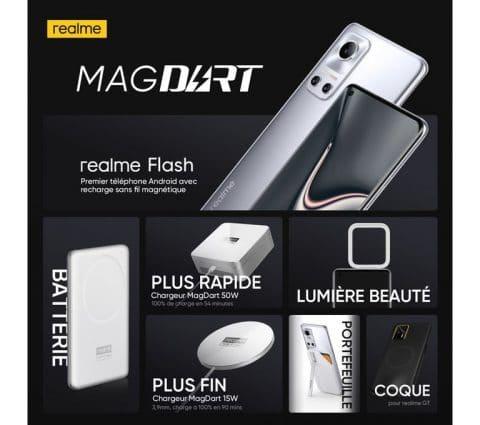 MagDart: Realme officialise seschargeurs magnétiques jusqu'à 50W