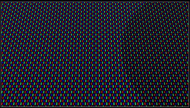 La nouvelle géométrie des pixels de la caméra sous-écran Oppo de dernière génération © Oppo