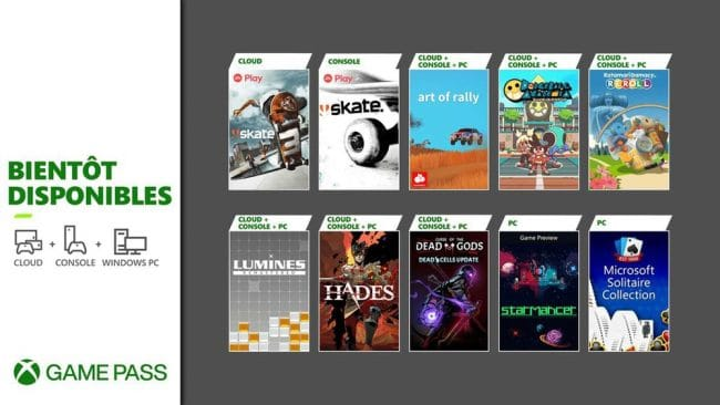 Xbox Game Pass jeux aout 2021