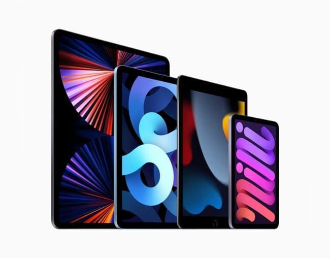 Gamme iPad 2021