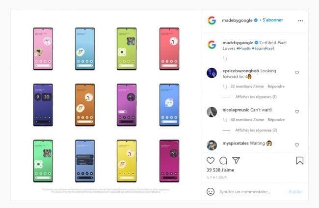Google Pixel 6 Instagram