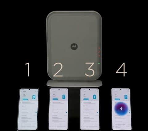Motorola planche sur unesolution derecharge sansfil àdistance