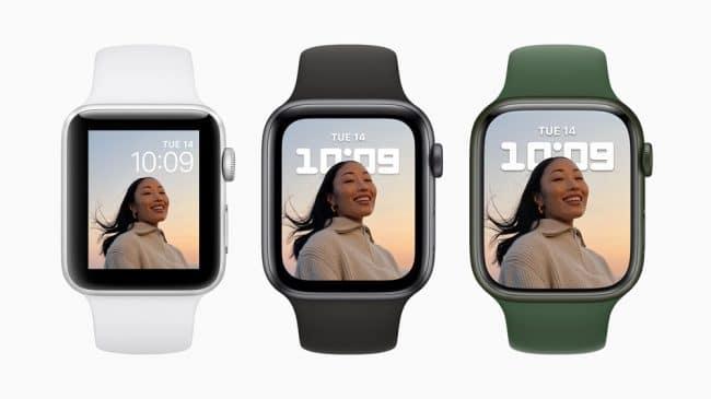 Apple Watch Series 3,6 et 7