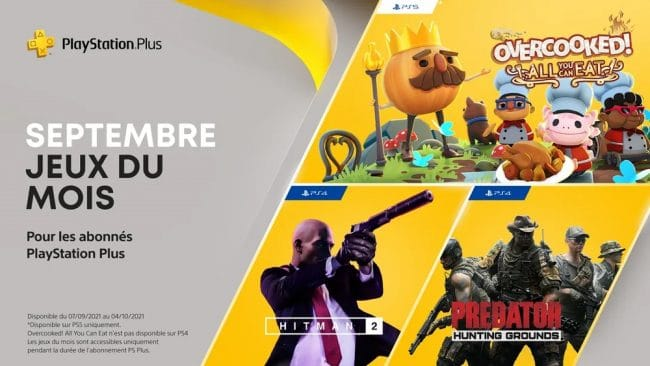 PlayStation Plus Sony Septembre 2021