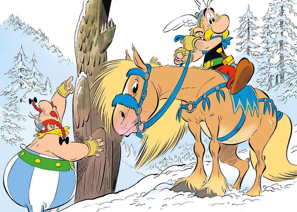 La couverture d'<i>Astérix et le Griffon</i> par le dessinateur Didier Conrad