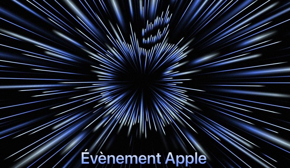 Capture d'écran de l'invitation à la Keynote d'Apple.