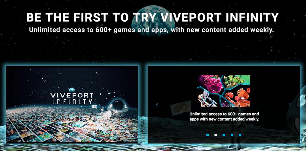 Abonnement HTC Viveport Infinity : l'offre de jeux VR en accès illimité est disponible
