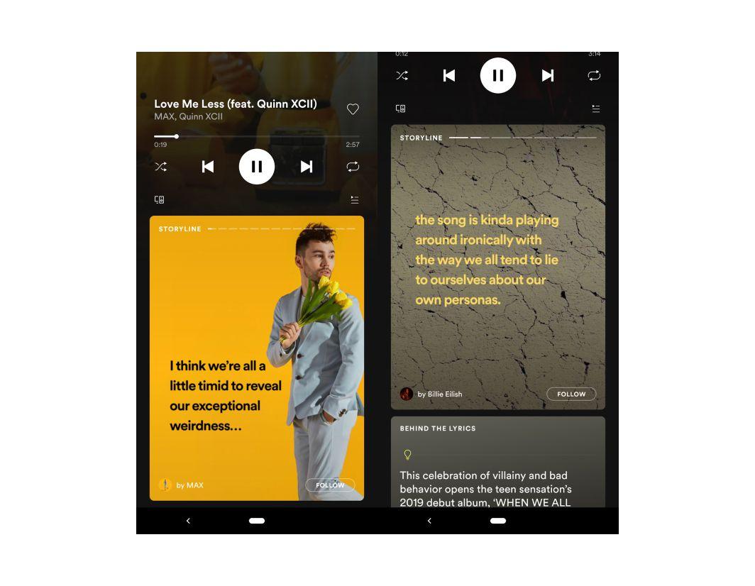 """Avec Storyline, Spotify s'essaye aux """"Stories"""" pour les artistes"""