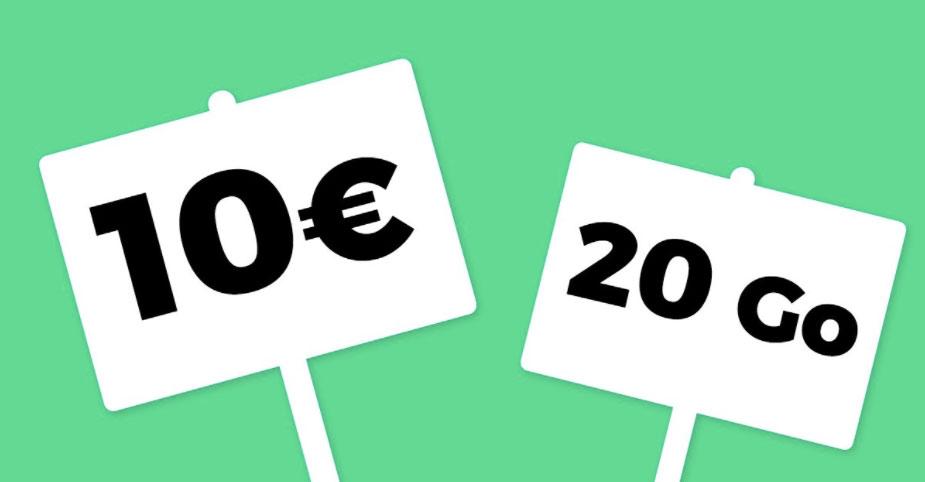 Bon plan - Le forfait SFR RED à 10 euros s'offre 20 Go de data au lieu de 1 Go