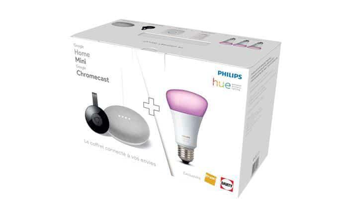 Bon plan : le packGoogle Home Mini + Chromecast + Philips Hue White & Colors à 199,99 euros