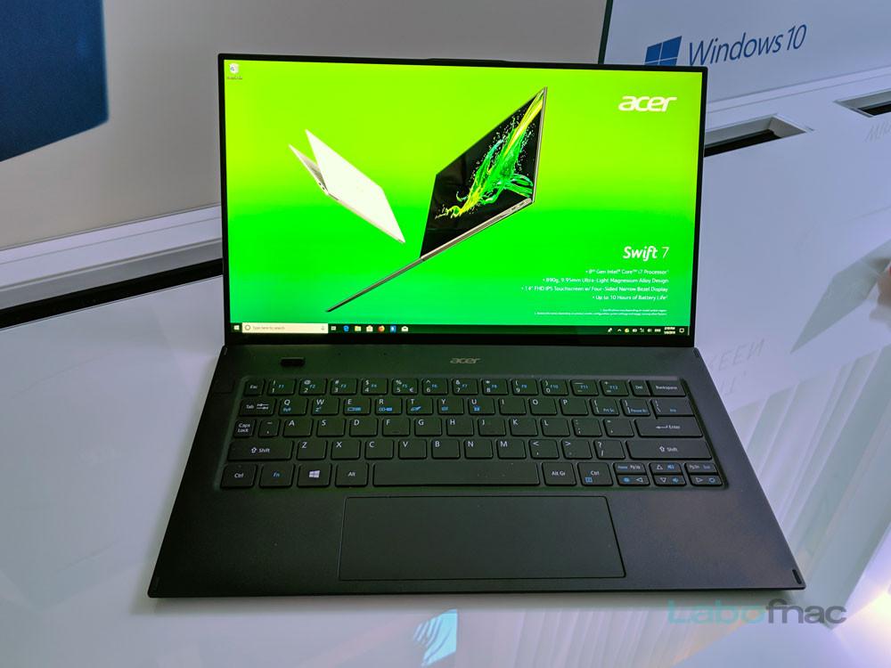 CES 2019 - Acer Swift 7 : une date et un prix pour le PC ultra fin et puissant