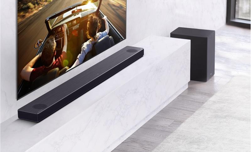 CES 2020 - Barres de son LG SN9YG et SN11RG : étalonnage intelligent, Google Assistant, Dolby Atmos...