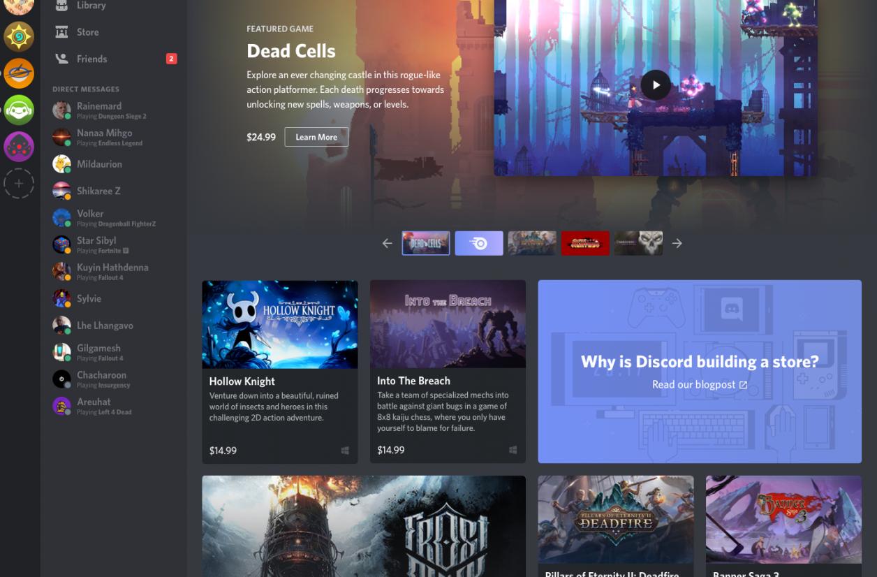Discord se lance dans la vente de jeux vidéo dématérialisés