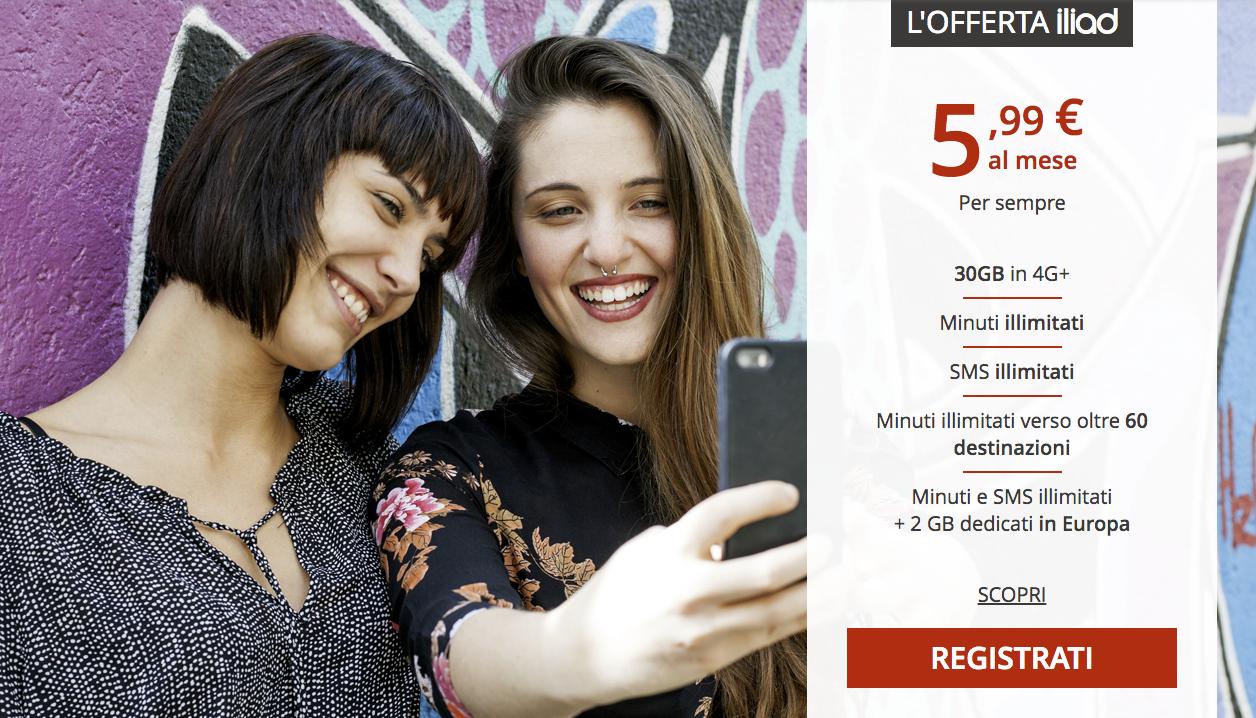Free Mobile se lance en Italie sous la marque Iliad
