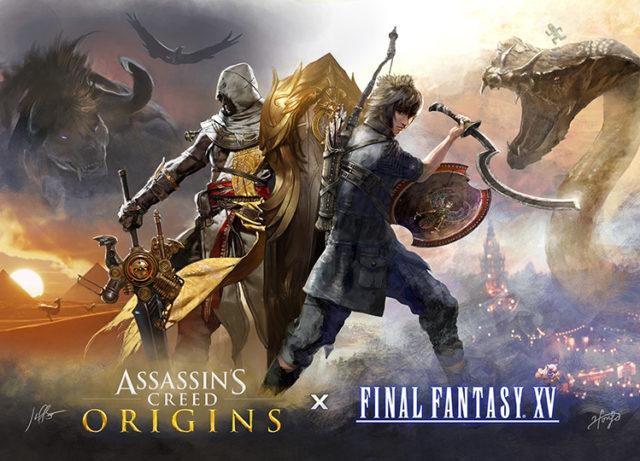 Gamescom 2017 - Final Fantasy XV et Assassin's Creed Origins font cause commune