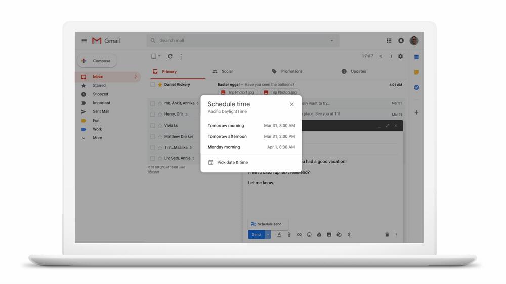 Gmail : l'envoi programmé d'e-mails est désormais disponible