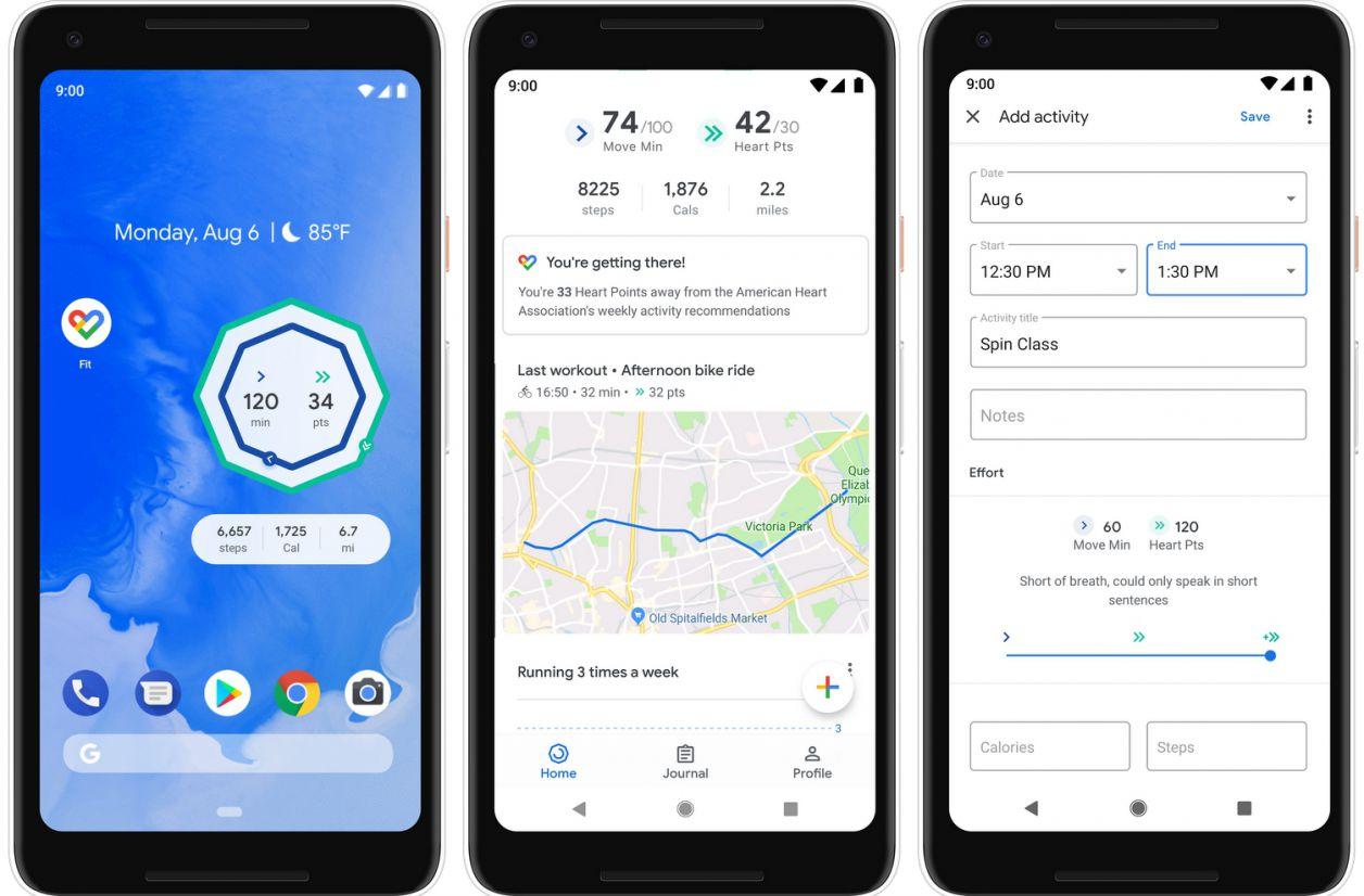 Google Fit s'améliore encore sur Android, et aussi sur Wear OS