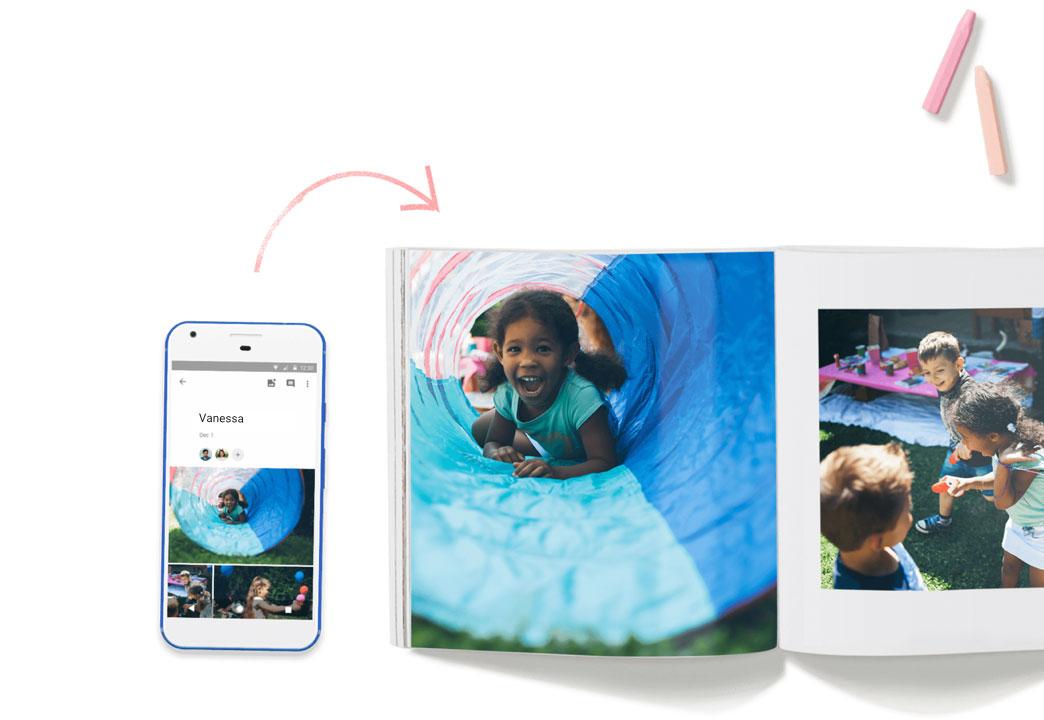 Google Photos permet désormais de créer et commander un livre photo