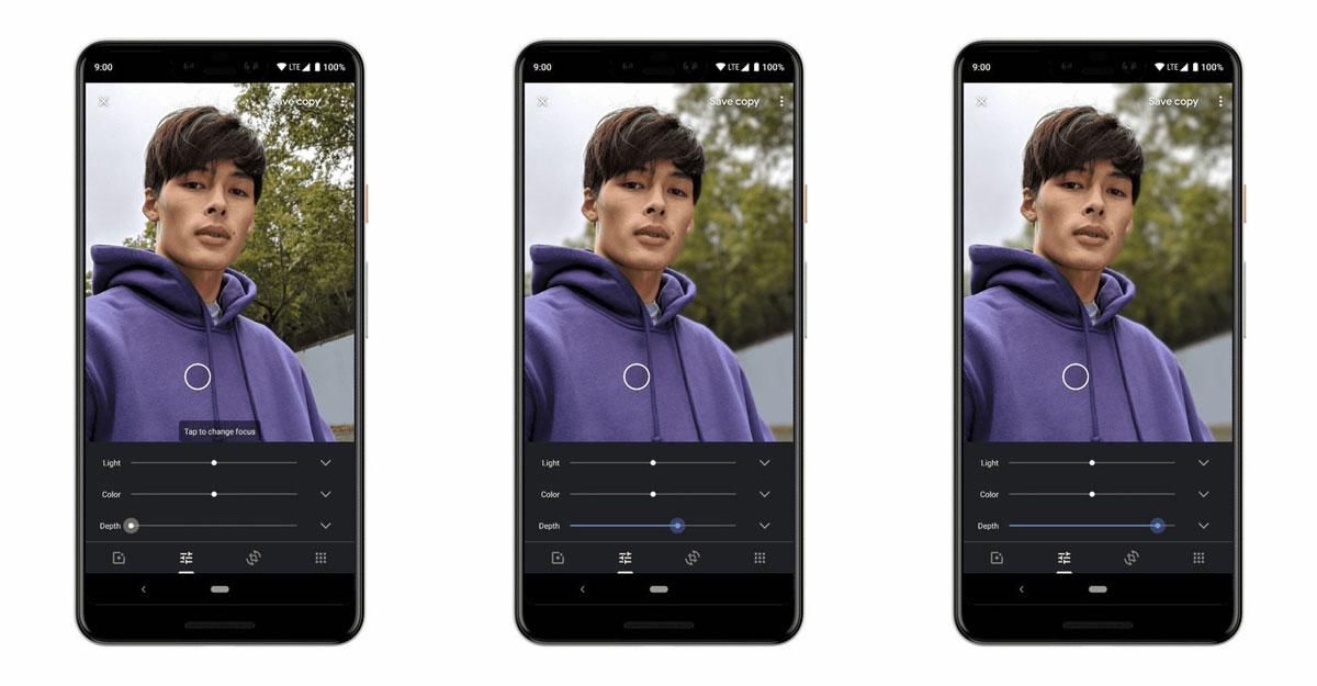 Google Photos pour iOS s'offre un curseur de profondeur pour contrôler l'intensité du flou