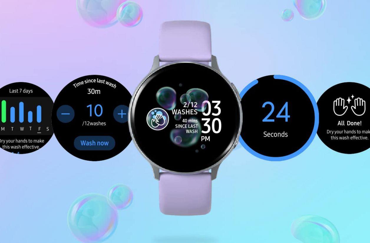 Hand Wash : les montres Samsung peuvent aussi vous rappeler de vous laver les mains