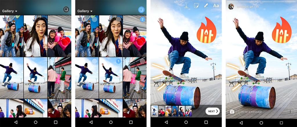 Instagram Stories : vous pouvez maintenant publier plusieurs photos et vidéo en une seule fois
