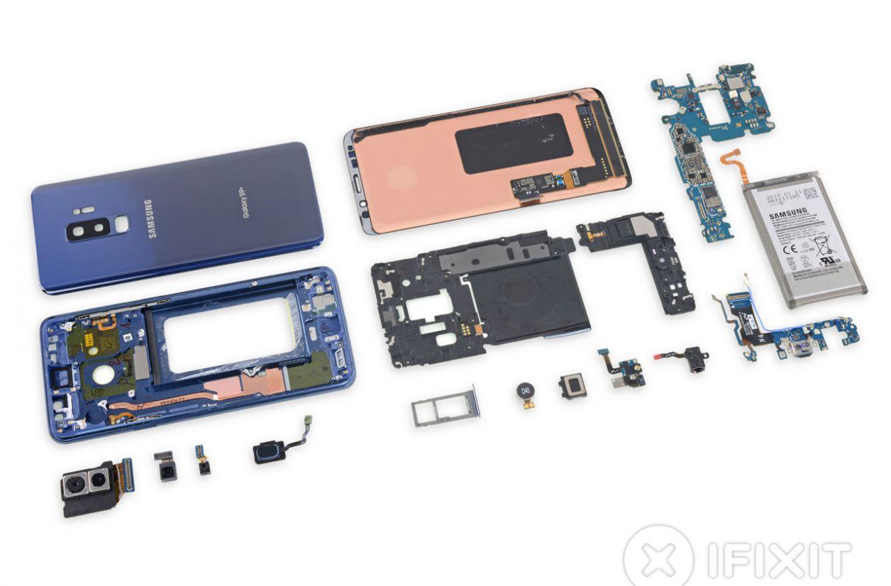 Les Samsung Galaxy S9 et S9+ se révèlent très difficiles à réparer