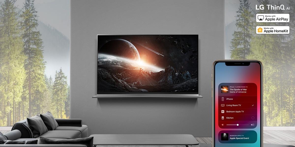 LG déploie AirPlay 2 et HomeKit d'Apple sur ses téléviseurs de 2019