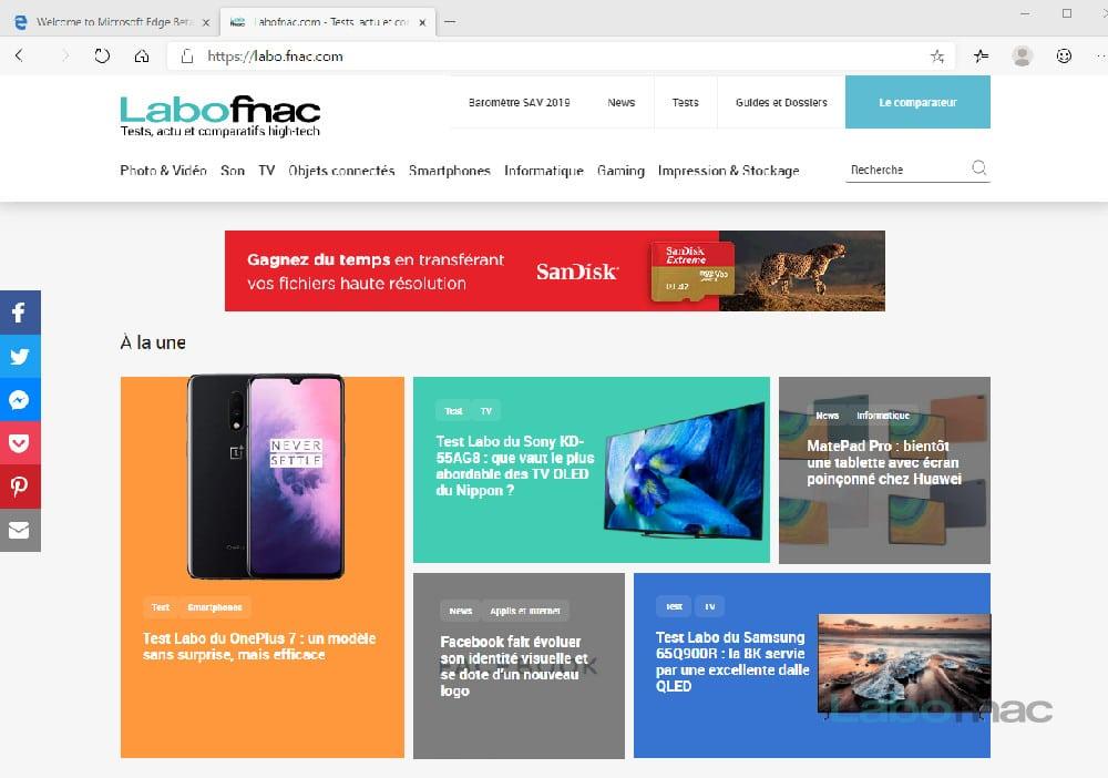 Microsoft Edge basé sur Chromium sera disponible le 15 janvier