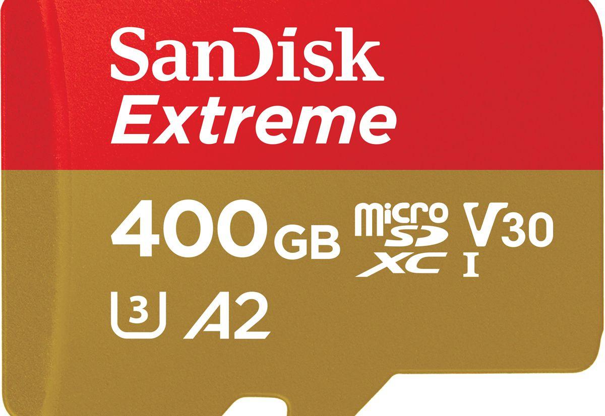 MWC 2018 - SanDisk Extreme 400 Go, la carte microSD UHS-I la plus rapide du monde