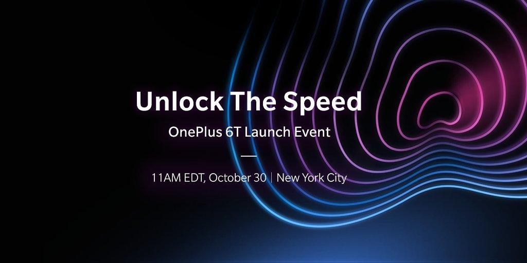 OnePlus 6T : présentation le 30 octobre, et lancement peu après