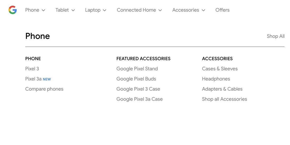 Pixel 3a : le smartphone milieu de gamme apparaît sur le site officiel de Google