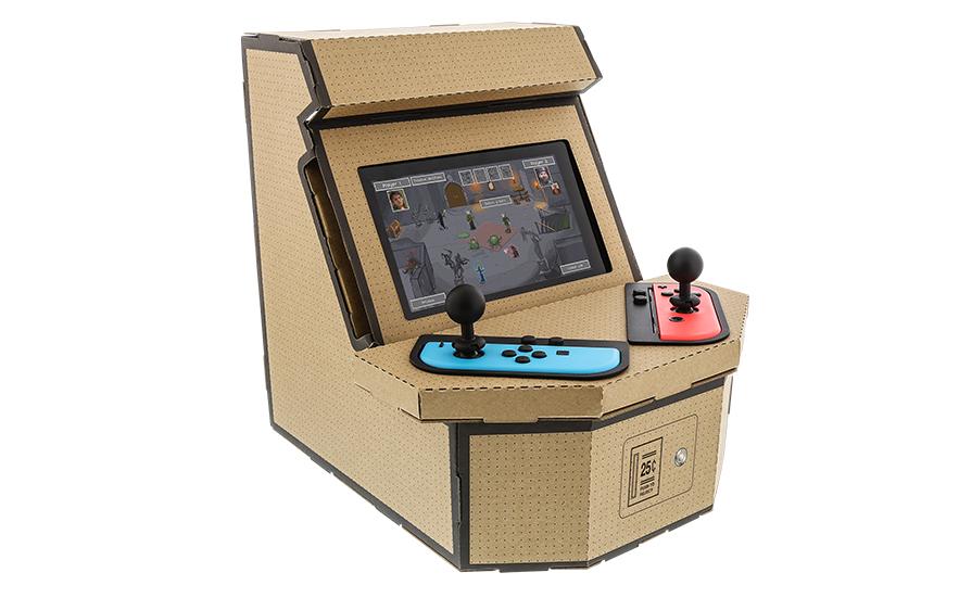 PixelQuest Arcade : une borne d'arcade en carton pour Switch à fabriquer