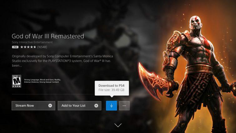 PlayStation Now : le téléchargement de jeux est désormais possible