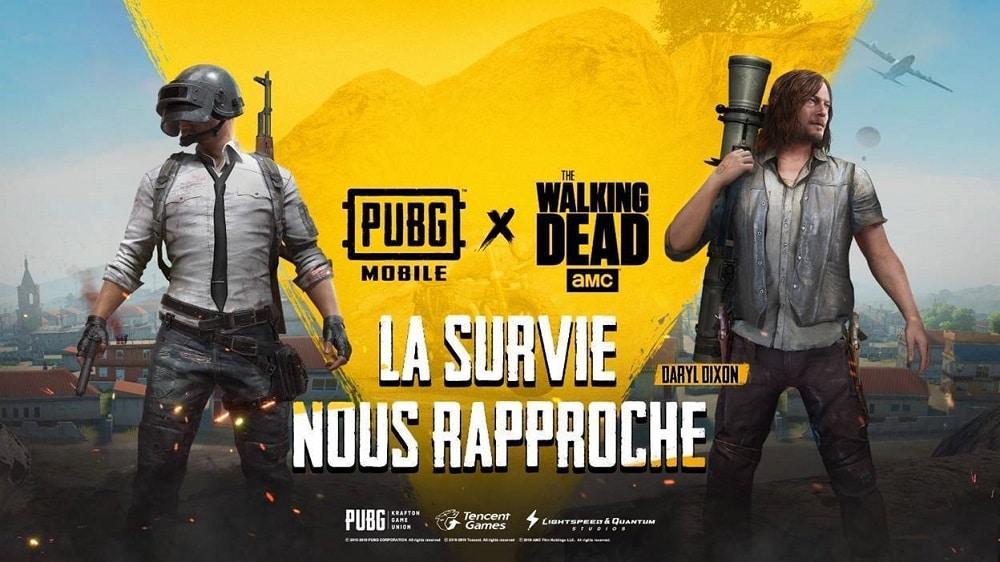 PUBG Mobile : le crossover avec The Walking Dead arrive demain