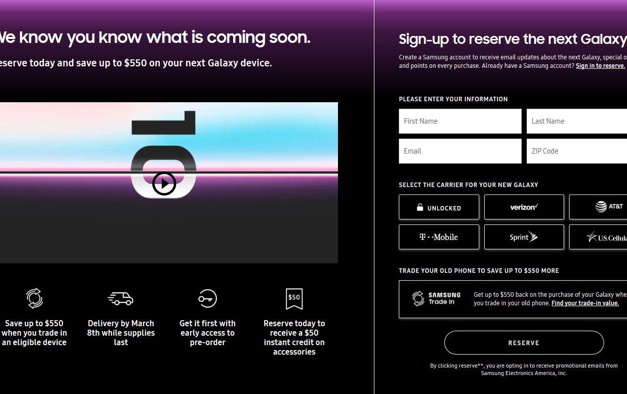 Samsung Galaxy S10 : les réservations sont ouvertes aux États-Unis