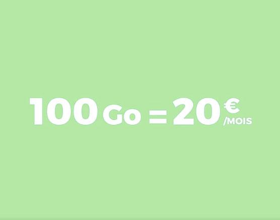 SFR RED lance un forfait à 100 Go de data pour 20 € par mois