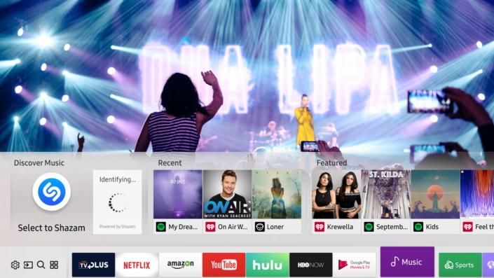 Shazam arrive dans les Smart TV de Samsung
