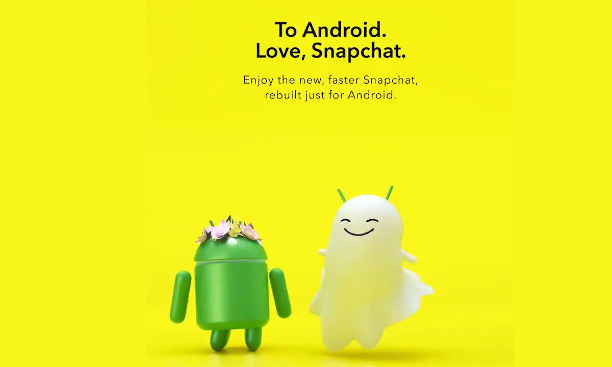Snapchat déploie enfin sa nouvelle application pour Android