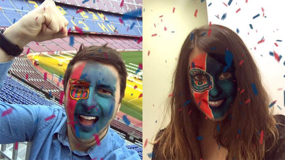 Snapchat : des filtres foot pour le PSG, l'OM et tous les grands clubs européens