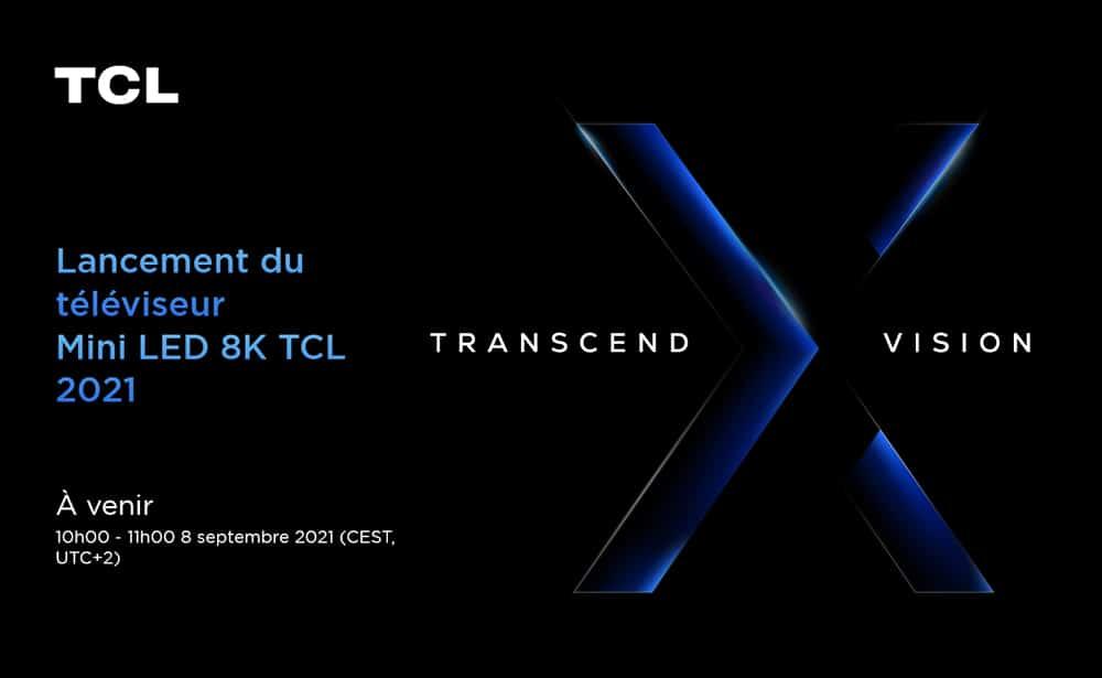 TCL prépare le lancement d'un téléviseur Mini-LED 8K